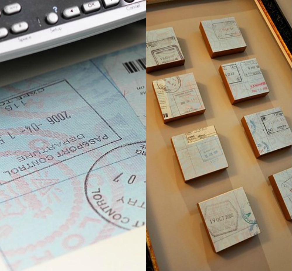 Что-то подобное можно сделать и с штампами в паспорте из былых поездок.