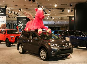Международная выставка машин в Нью-Йорке в 2015 году.
